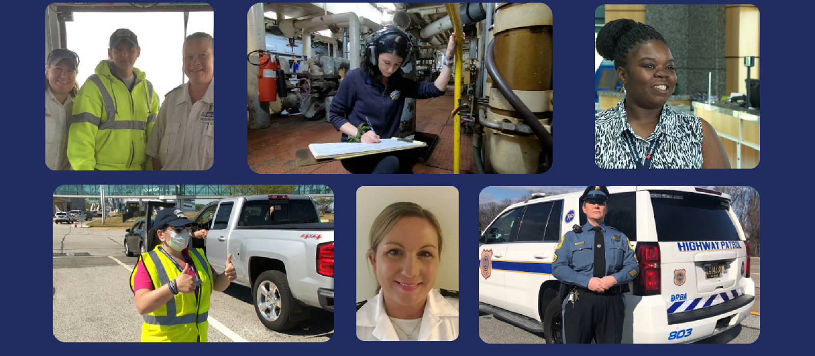 collage of women who work at the Ferry