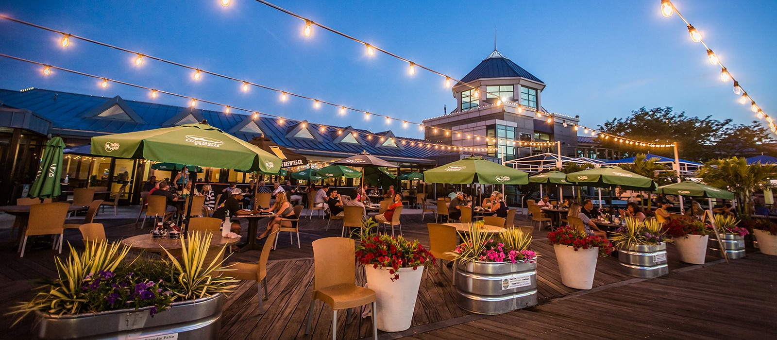 Outdoor Waterfront Dining at Grain On the Rocks at the Lewes Ferry Terminal