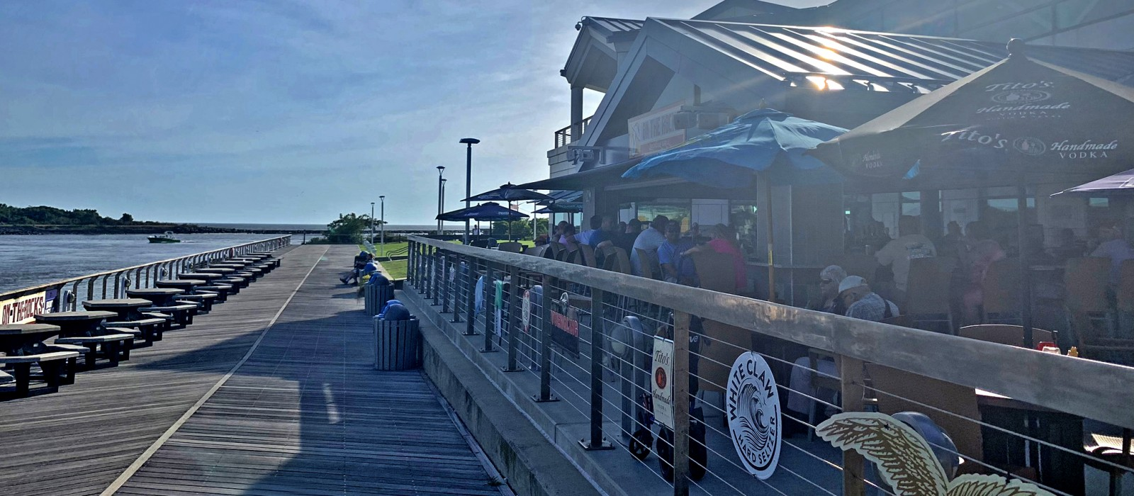 A sunny afternoon at On the Rocks in North Cape May, NJ