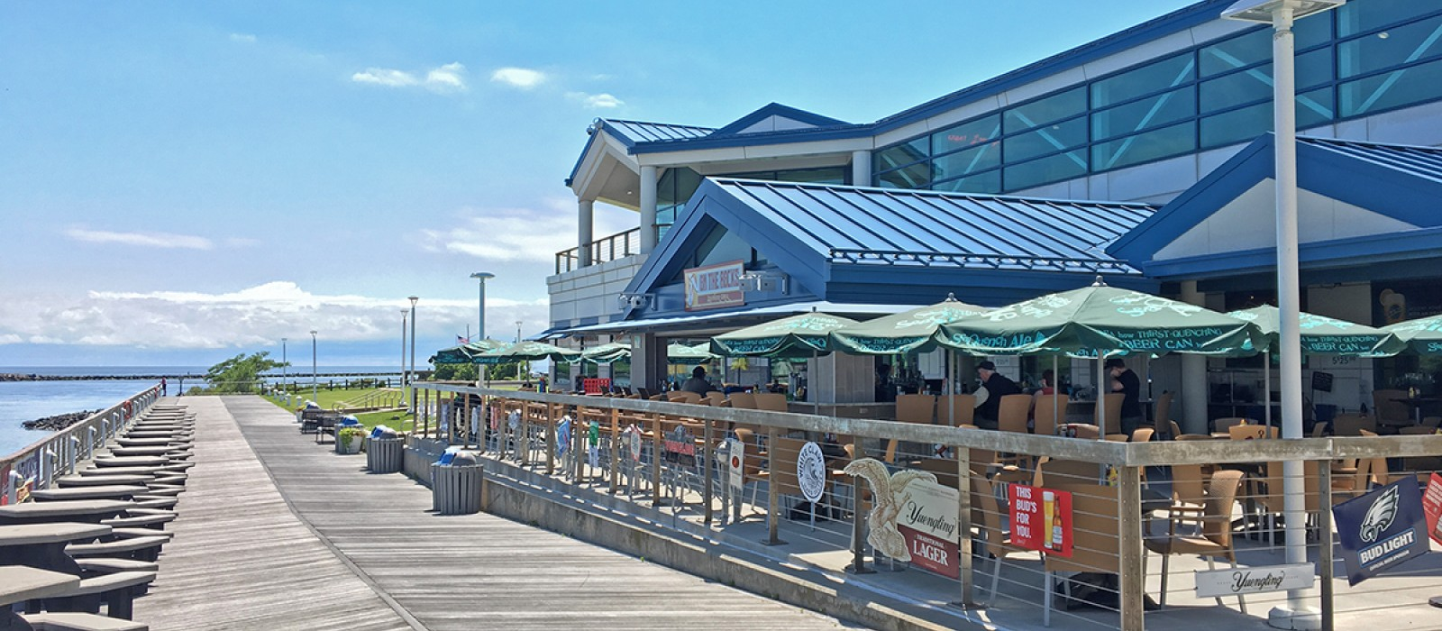 the boardwalk at the Cape May terminal provides a great place to get fresh air and some exercise