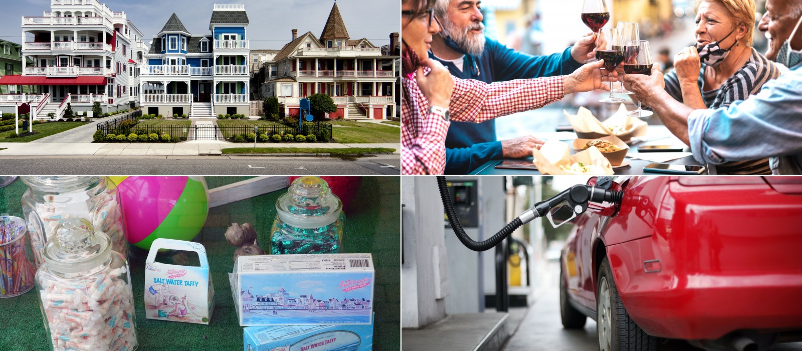 4 shutterstock images depicting ways passengers spend $ locally