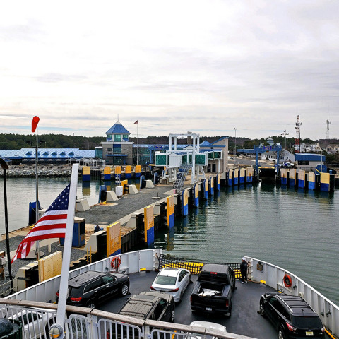 Ferry arriving into Lewes, DE
