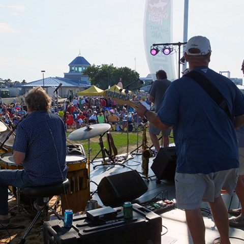 Funsters performing at the Cape May-Lewes Ferry