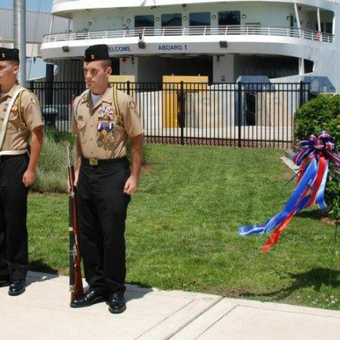 Color Guard for Maritime Day at the Lewes Ferry Terminal