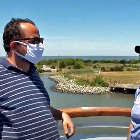 Wearing masks aboard the Cape May-Lewes Ferry