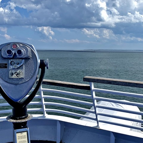 View of the Delaware Bay from the deck of the Cape May-Lewes Ferry