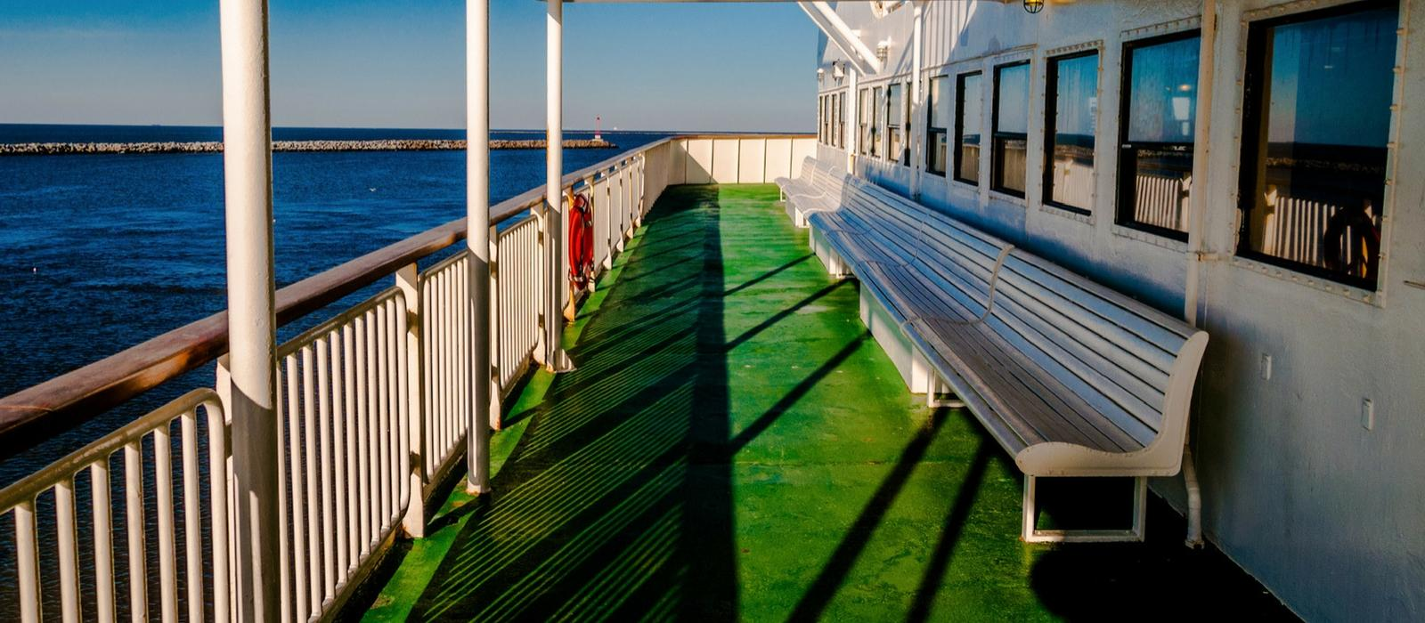 Ferry Deck With Bay View