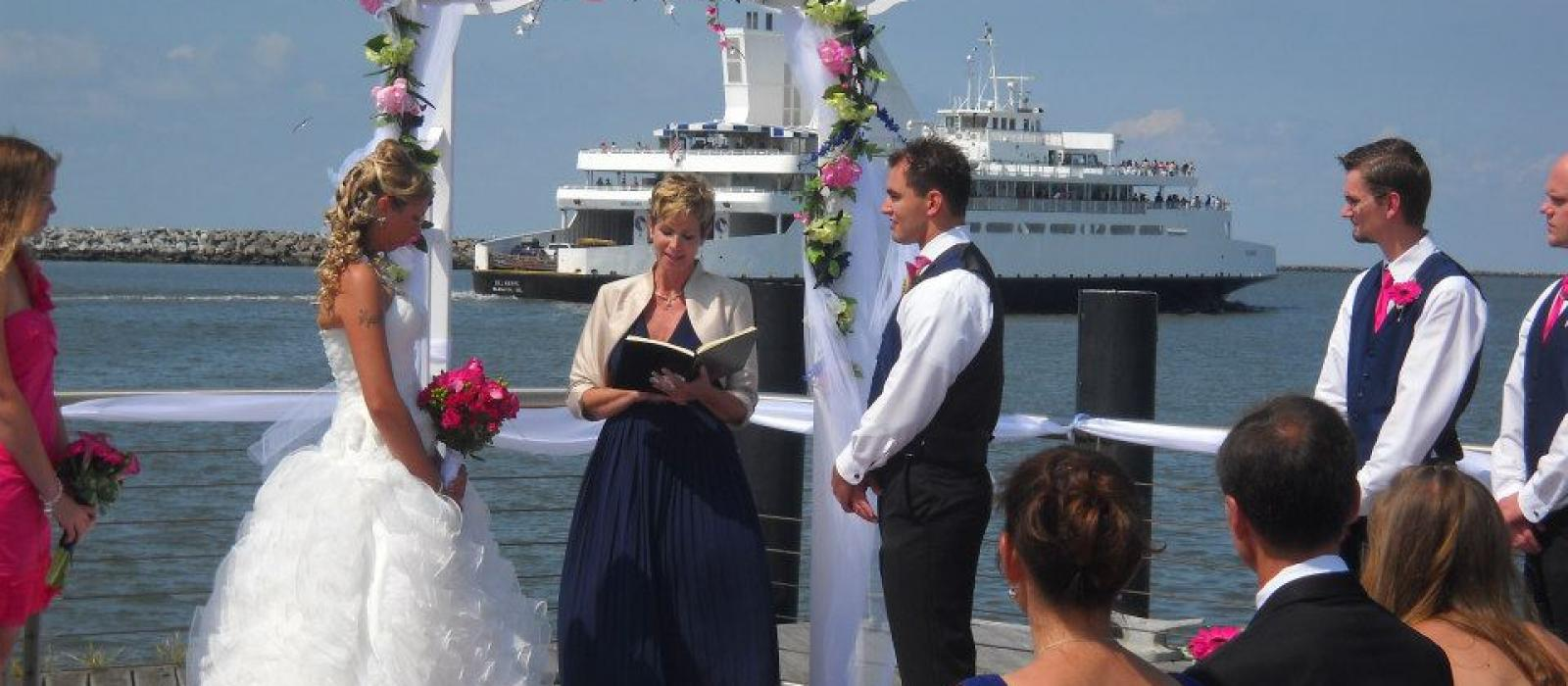 Wedding at the Lewes Finger Pier at the Delaware Ferry Terminal