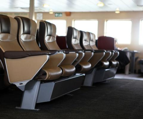 Indoor Seating On The Ferry