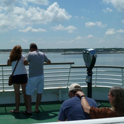 Couples enjoying the ferry