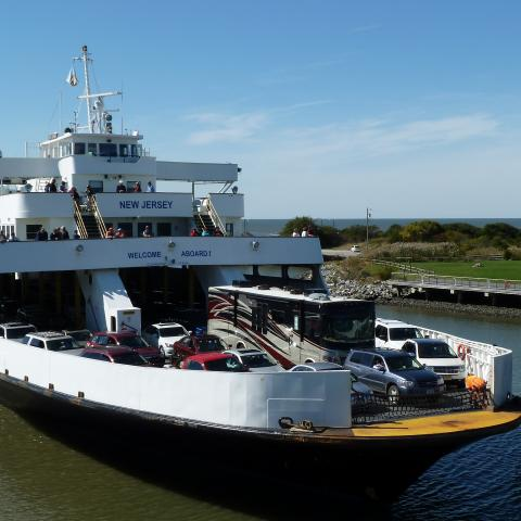 Ferry MV New Jersey arriving at Cape May Terminal