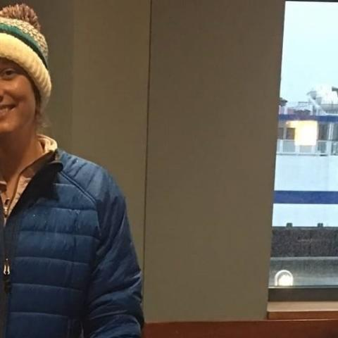 Jessie Grieb walking on the  Ferry for Overdose Awareness